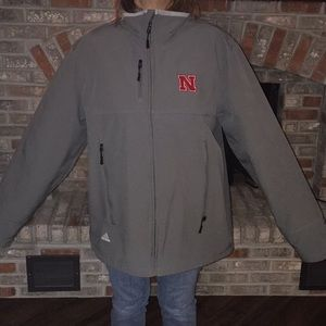 Lg Adidas gray Husker all weather zip up jacket